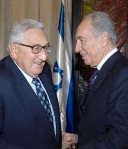 С президентом Израиля Шимоном Пересом