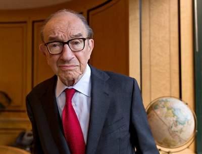 Алан Гринспен в своём вашингтонском офисе на прошлой неделе