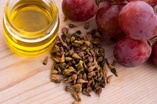 Grape seed oil in cosmetics