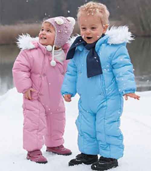 Модная зимняя одежда для малышей