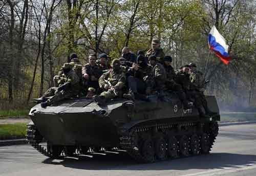 Колонна 25-ой воздушно-десантной бригады вошла в Краматорск