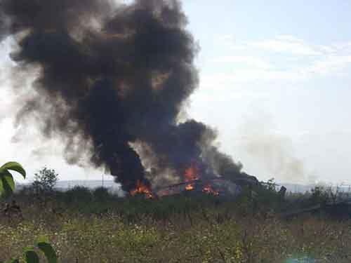В Краматорске Российские наемники взорвали вертолет