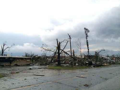 Около 10 тыс. человек в городах Мэйфлауэр и Вилония остались без света