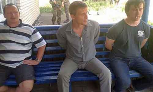 Фото Марата Сайченко и Олега Сидякина после задержания в Краматорске