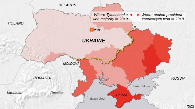Карта Украины после референдума