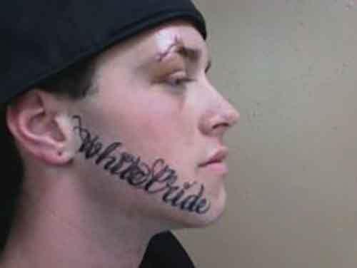 Как сделать татуировку на лице?