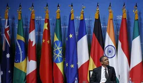 Барак Обама на саммите G20 в Южной Корее, 2010 год