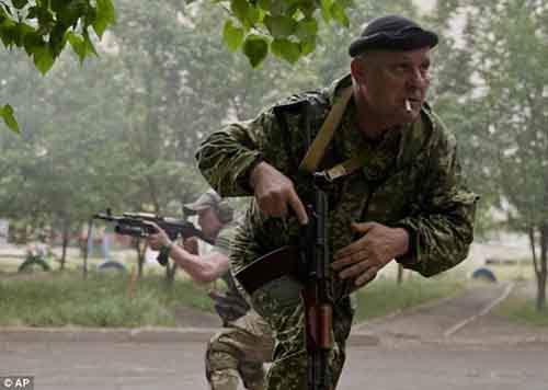 Утверждается, что ополченцы использовали миномёты, гранатомёты и пулемёты
