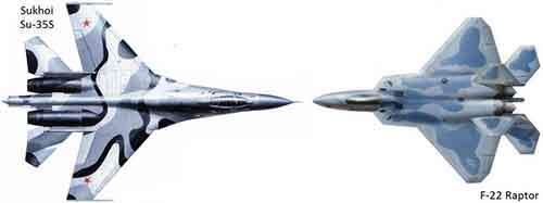 Su-35S X F-22 Raptor