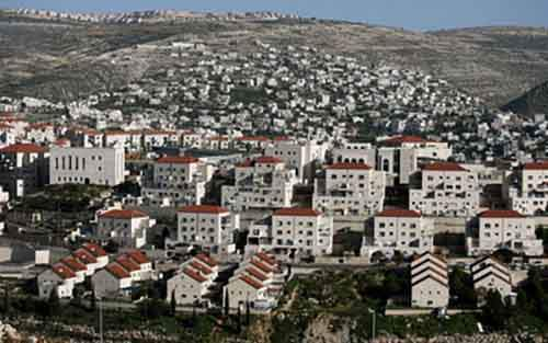 A general view of the Israeli settlement
