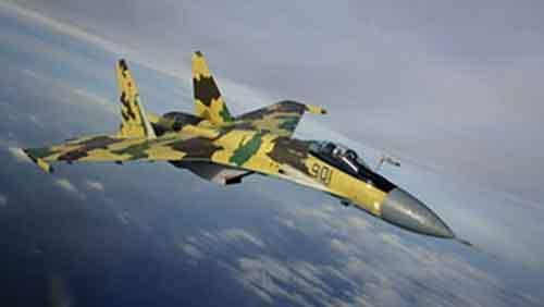 Российский ударный истребитель против самолета-разведчика НАТО (HD видео)