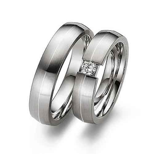 Свадебная мода - Обручальные кольца из белого золота
