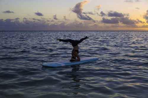 Paddleboard-yoga