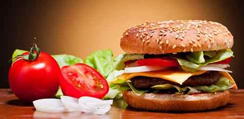 hamburger-bun-sesame-tomato-onion-cucumber-vegetables-chicken-cheese-fast-food-fast-food