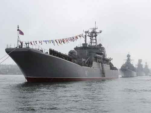 Корабли российского Черноморского флота в Севастополе