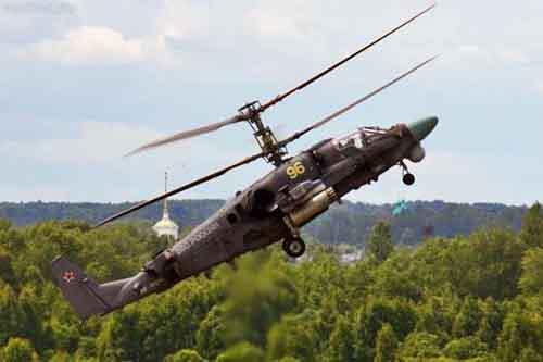 Новый российский боевой вертолёт Ка-52