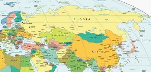 Интерактивная карта евразии