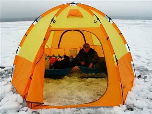 Палатка – необходимый атрибут удобной рыбалки