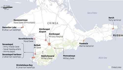 Российские военные базы в Крыму
