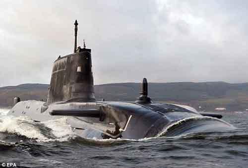 """Подводная лодка Королевского ВМФ """"Astute"""""""