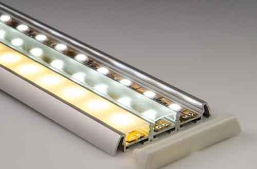 угловой профиль для светодиодной ленты, накладной профиль для светодиодной ленты, профиль для лед ленты, гибкий профиль для светодиодной ленты