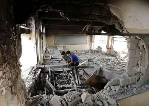 Разрушенный дом в Газе