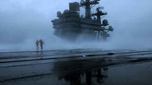 USS Ronald Reagan conducts sea trials.