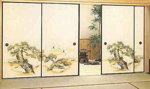 Межкомнатные двери как часть японского стиля в интерьере