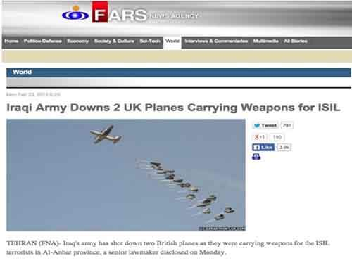 Iraqi Army shot down UK cargo planes