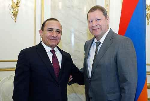 Сергей Сидорский с Премьер-министром Республики Армении Овиком Абраамяном