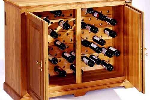 Условия хранения вина в винных шкафах