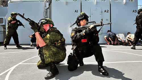 RUSSIA-CHINA-JOINT SEA DRILLS