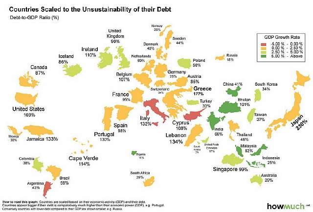 world-map-of-debt