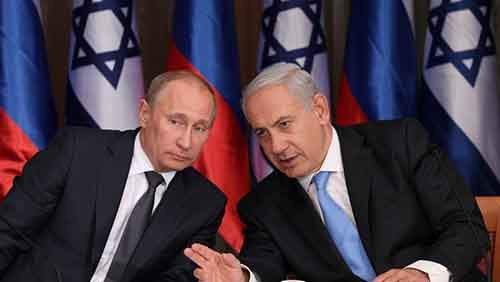 Israel's Prime Minister Benjamin Netanyahu (R) holds a joint press conference with Russian President Vladimir Putin at Netanyahu's residence in Jerusalem on June 25, 2012. Putin is on an official visit to Israel. Photo by Marc Israel Sellem/POOL/FLASH90