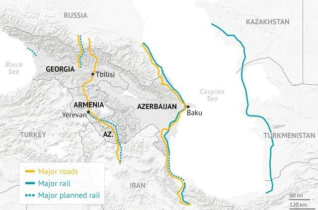 caucasus-railway-road-map-2