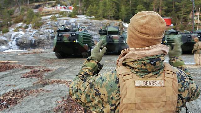 Marine Corps equipment rolls out of classified Norwegian caves