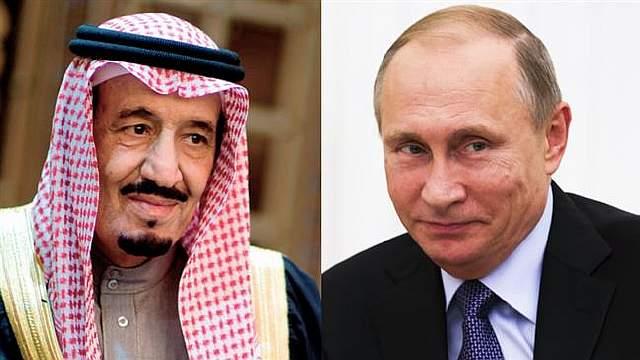 Король Салман и Владимир Путин