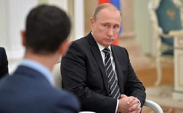 Асад с Путиным в Москве в октябре прошлого года