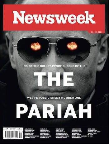 Демонизация Путина: обложка журнала «Newsweek», известного своими яростными нападками на российского президента