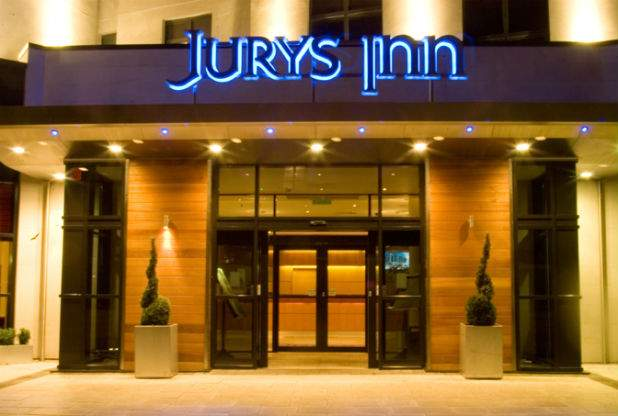 Подпись к изображению: Отель «Jurys Inn» в Ноттингеме, Британия