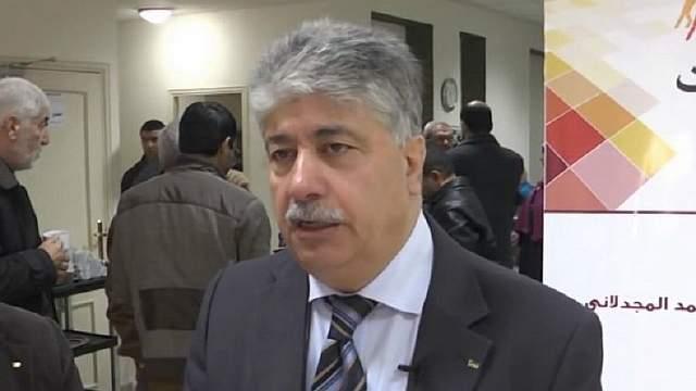 Подпись к изображению: Высокопоставленный представитель Организации освобождения Палестины Ахмед Маждалани