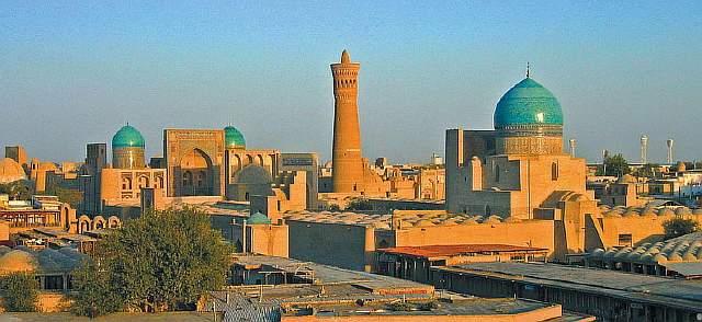 uzbekistan-bukhara-aerial-evenin