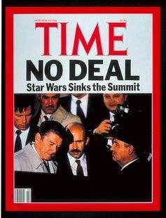 Подпись к изображению: Обложка номера «Time», посвященного саммиту в Рейкьявике