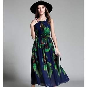 elegant-beach-dress-chiffion-sleeveless-peacock-print-bule-midi-font-b-sundress-b-font-2016-hot