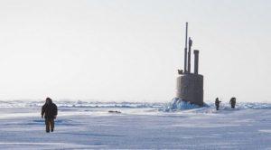Российская подводная лодка в Арктике незаметно вела слежение за «вражеской» субмариной в течение нескольких суток