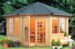 Стильный садовый домик – отличное решение для небольшого дачного участка