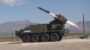 Американцы, готовясь к войне с Россией, отправляют в Европу боевые машины «Страйкер» с ракетными установками Hellfire