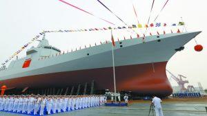 В Китае спущены на воду два новых эсминца, которые могут быть вооружены электромагнитными пушками