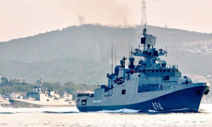 Российский военно-морской флот готовится противостоять США в Сирии