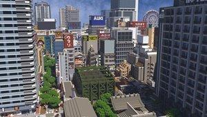 В Minecraft создаются весьма реалистичные мегаполисы